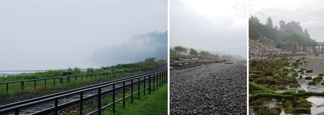 White Rock foggy morning - August 2013