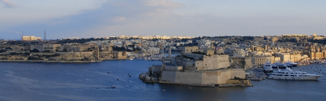Grand Harbour from Valletta