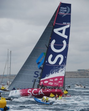 Team SCA leaving Alicante October 11, 2014