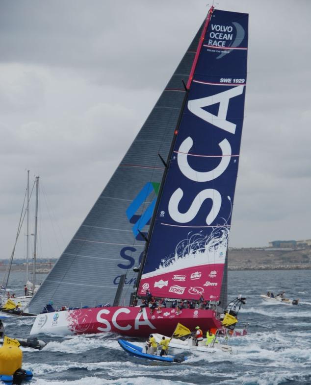 Team SCA leaving Alicante October 11, 2014